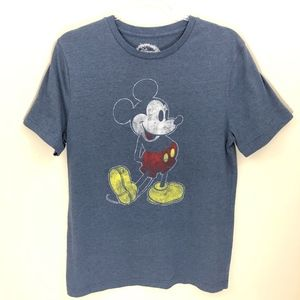 Disney Blue Mickey Mouse T-Shirt M NWOT